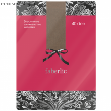 Эластичные шелковистые колготки, цвет бронзовый 40 den